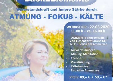 Workshop: Atmung – Kältetraining 22.03.2020